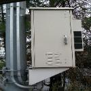 DDB Pole Mounted NEMA 4 Outside Plant Enclosure with Pentair Hoffman Air Conditioner